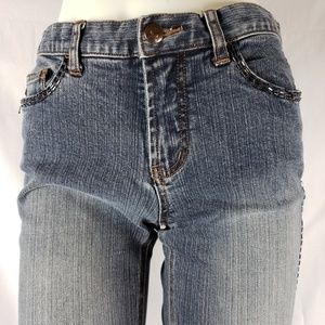 Express Jeans - Express Boot Cut Jeans with Beaded Legs, 5/6